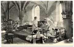 Healing at the Abbey (c.1915) (Vintage photographic postcard of Hôpital de Royaumont - Salle Blanche de Castille  © Casas-Rodríguez Collection, 2009.)
