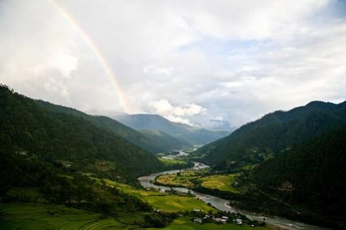 View of Punakha from Khamsum Yulley Namgyal