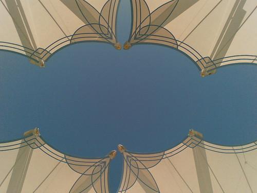 Sisi 4 payung di perkarangan Masjid Nabawi, Madinah.