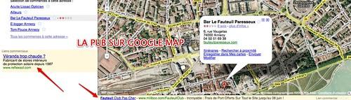 La pub dans Google Map Commence ;) by you.
