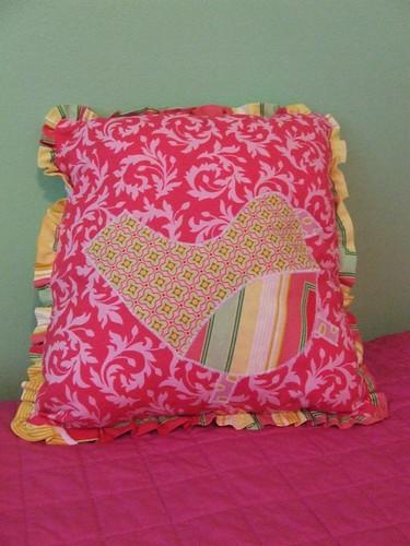 Applique Bird Pillow front