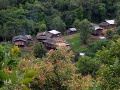 The Karen Shan village we stopped at on our second day of trekking
