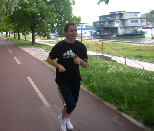 Nadia Runs Along the Danube River