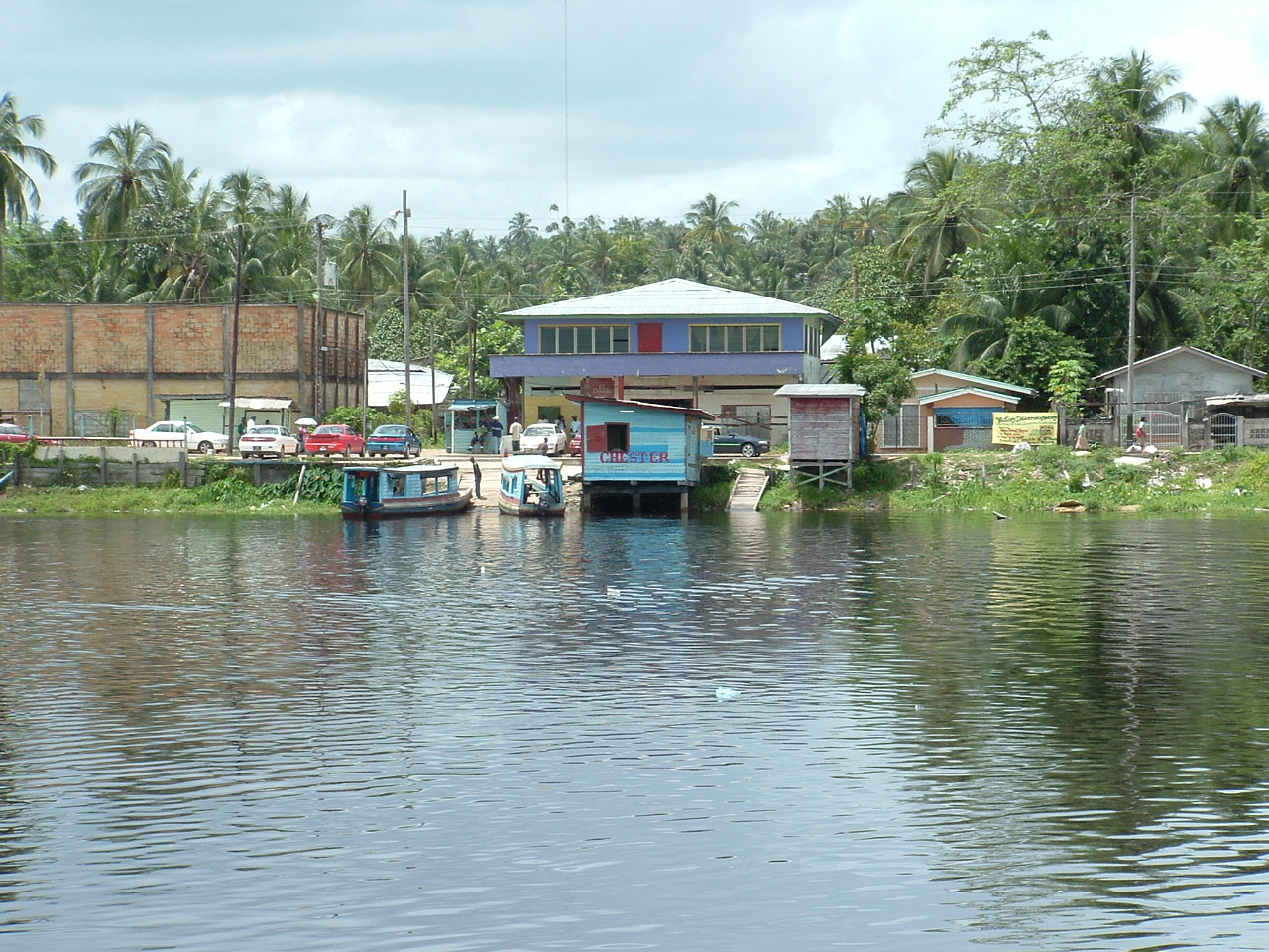 Ferry at Wizmar,  Demerara River, 2009, Linden, Guyana