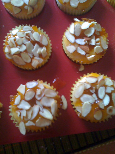 Apricot Almond vegan cupcakes