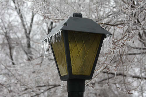 Ice Storm - Light Post