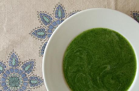 sopa de pepino e agrião
