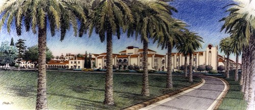 California Baptist College Rendering from Magnolia Ave.
