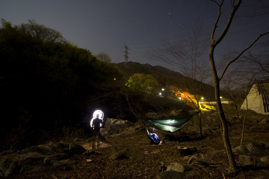 Camping by the lake near Sori Eki, Gunma-ken.