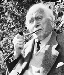 Carl Gustav Jung, smoking a pipe, pipe, smoking, carl jung, jung, portrait, picture,