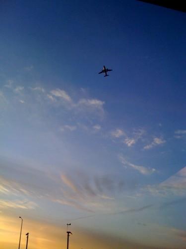 062/365 Plane blue sky