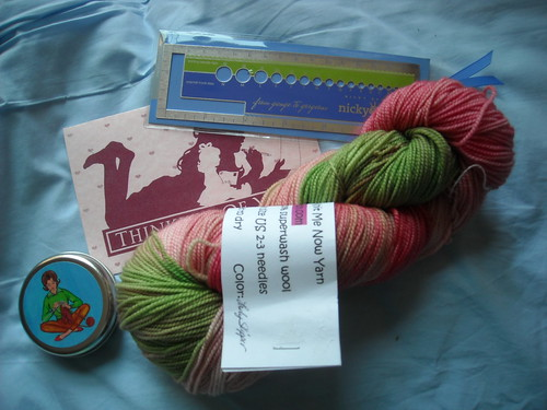 prize goodies from Cheryl @ Red Knits