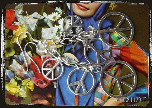 Orecchini pace - Peace earrrings IEPEACE