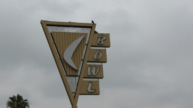Covina Bowl sign with raven's nest