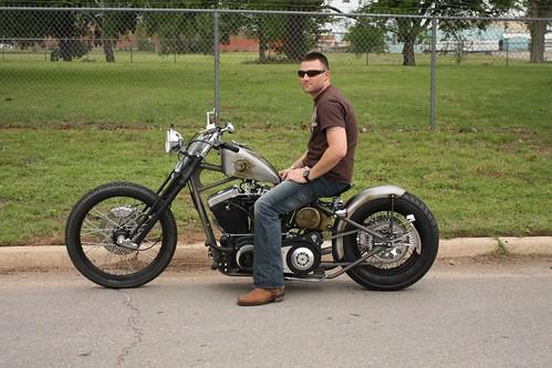 Adam Lynch, USMC, Test Rides His New Bobber