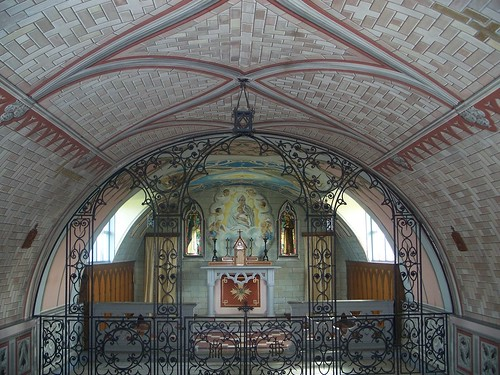The interior of the Italian Chapel, Orkney