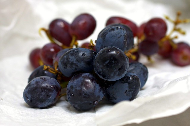 black and purple grapes
