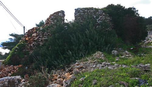 I resti della torre di Diso