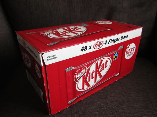 My prize: a box of 48 4-finger Kit Kats!