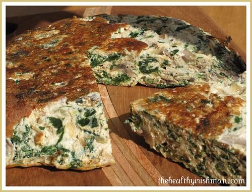 Spinach & Mushroom Fritatta