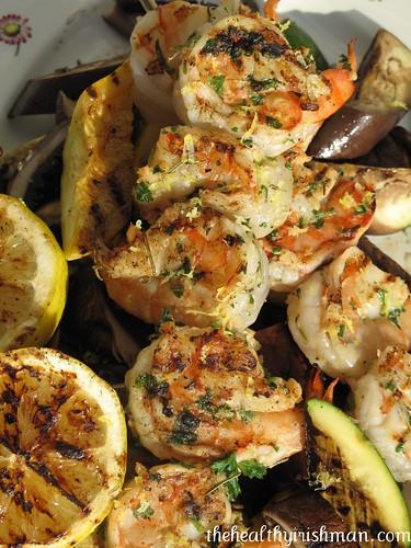 Grilled Wild Shrimp & Veg