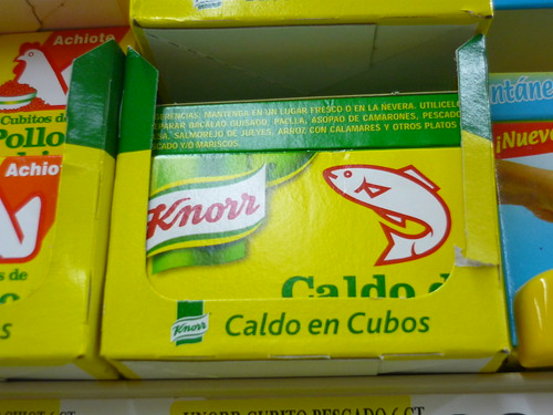 Fish stock in a Puerto Rican supermarket!