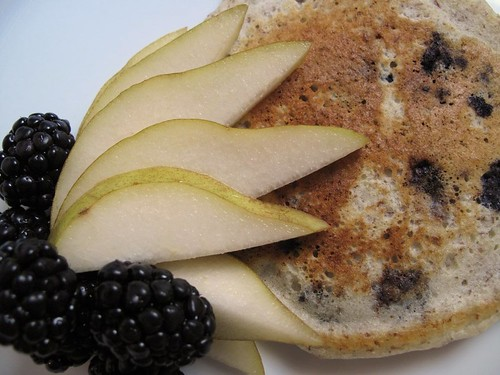 blueberry spice flaxseed pancake