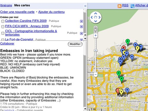 Embassies in Iran taking injured - Google Maps by you.
