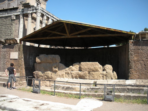 The Temple of Julius Caesar, where his body was cremated after his assassination.