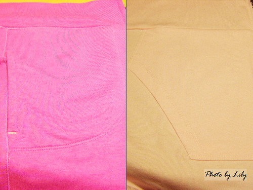 Uniqlo與Lativ抗UV外套口袋版型比較