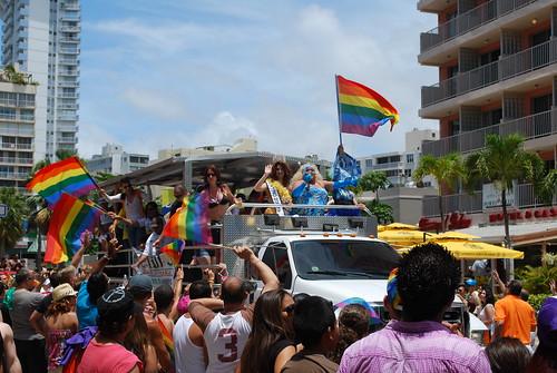 Rainbow flags everywhere