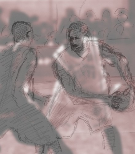 Rough sketch compared to photo