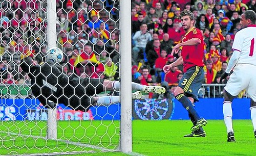 Gol de Piqué | Foto: www.as.com