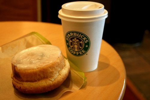 Thursday: Starbucks after a stressful meeting