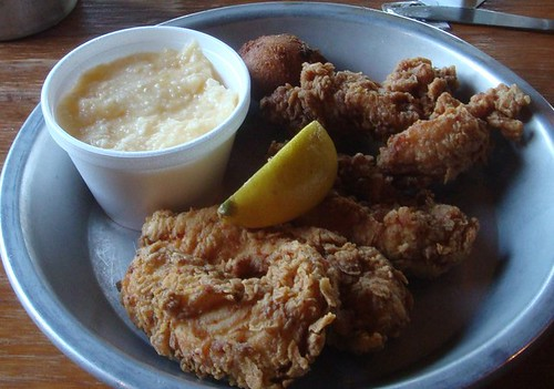Fried Chicken Tenders & Cheese Grits