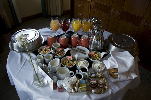 Our order of In-room Breakfast at Lake Louise
