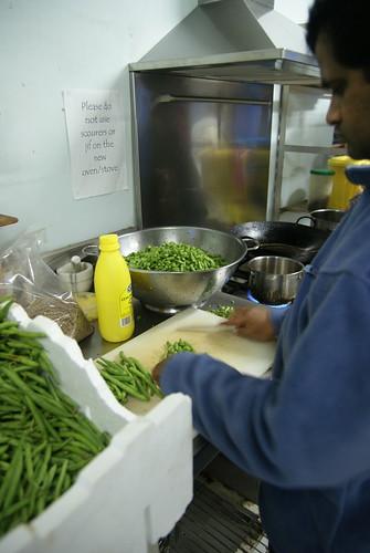 Beans slicing
