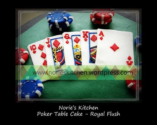 Norie's Kitchen - Poker Cake - Royal Flush
