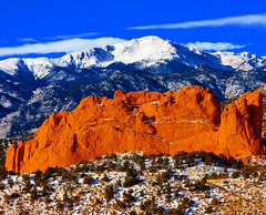 Sweet America, Pikes Peak Mounatin from Garden...