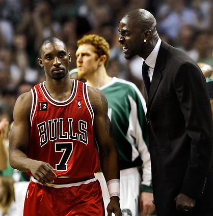 so youre yelling at ben gordon because hes playing hurt and youre not?