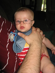 Emerson got to try out everyones glasses, since hell probably need them in the future.