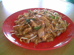 Fried kway teow - Foochow style (dry)