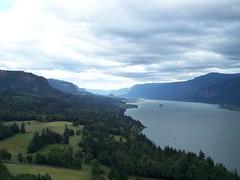 The Columbia River between Washougal, Washington and Stevenson, Washington.