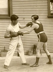 Vrouwelijke bokskampioen / Female boxing champion