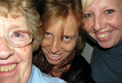 Mum, me, my sister Nat