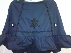dark blue flared skirt - front