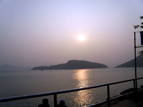 sunset in hk ocean park