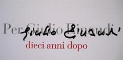 Giulio Einaudi, materiale pubblicitario per le manifestazioni nel decennale della morte (part.) 2