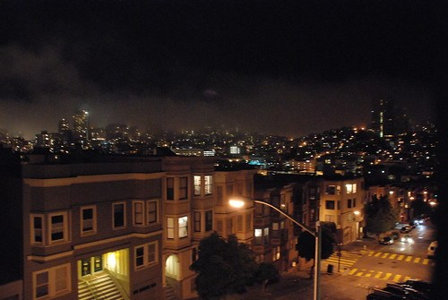 Nob Hill in the background