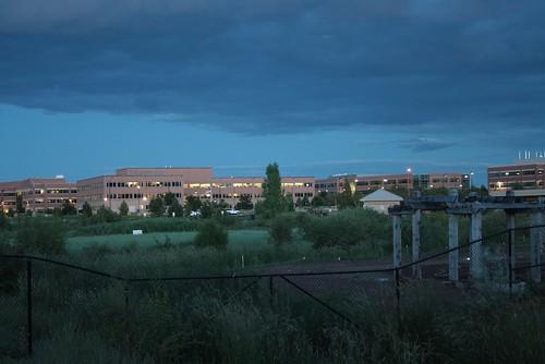 Fort Collins bei Nacht